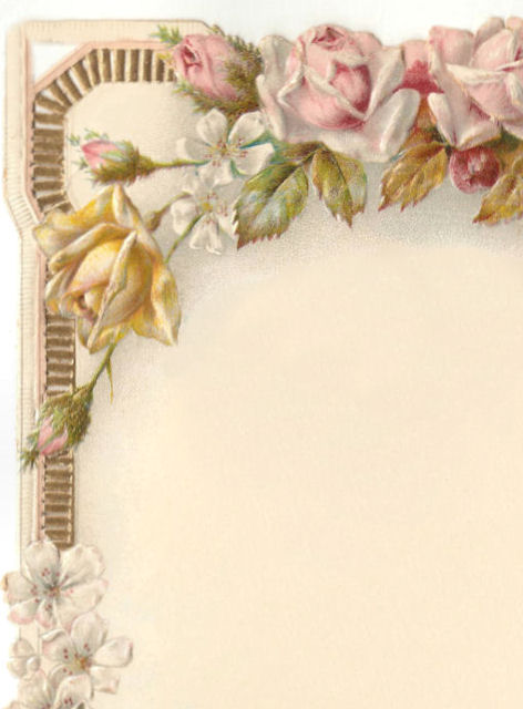 Victorian Home Library: Victorian Card * Winter BIRDS & Roses